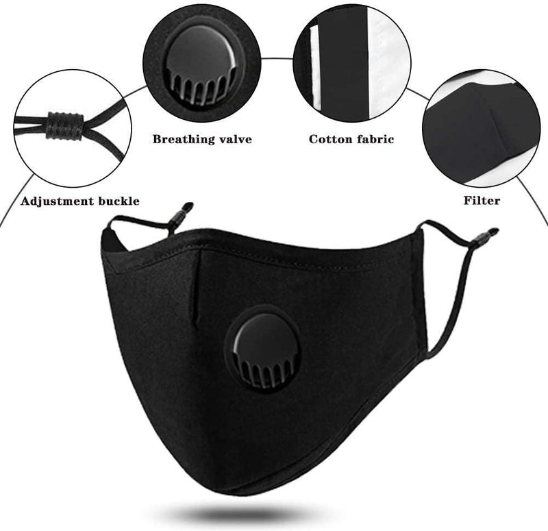 Cloth Face Mask with Valve