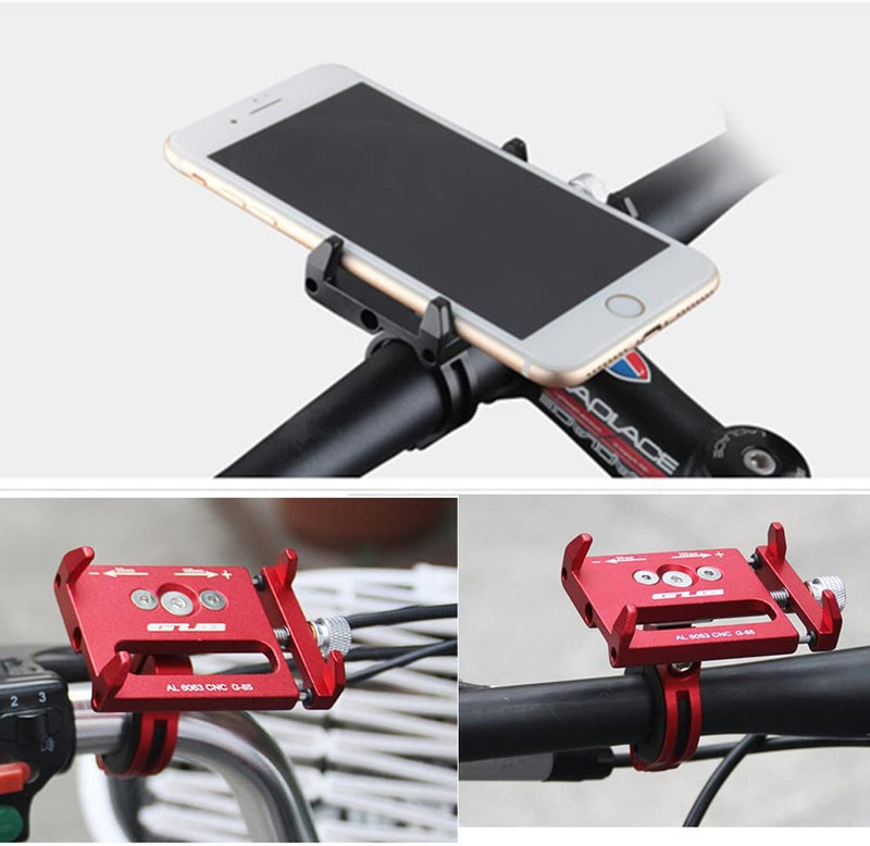 GUB Bicycle & Motorcycle Phone Mount, Aluminum Alloy (Black)