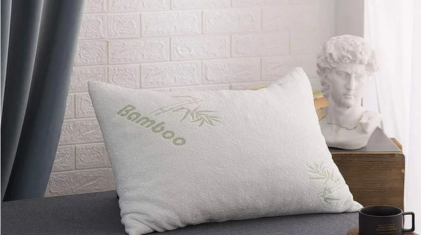 Bamboo Pillow with Premium Shredded Memory Foam | Queen Size