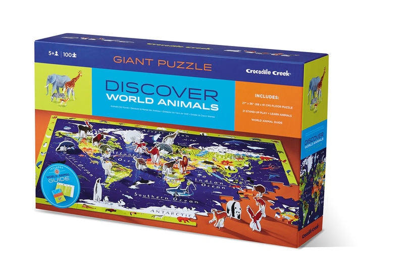 Discover + Play Puzzle World Animals (100pcs)