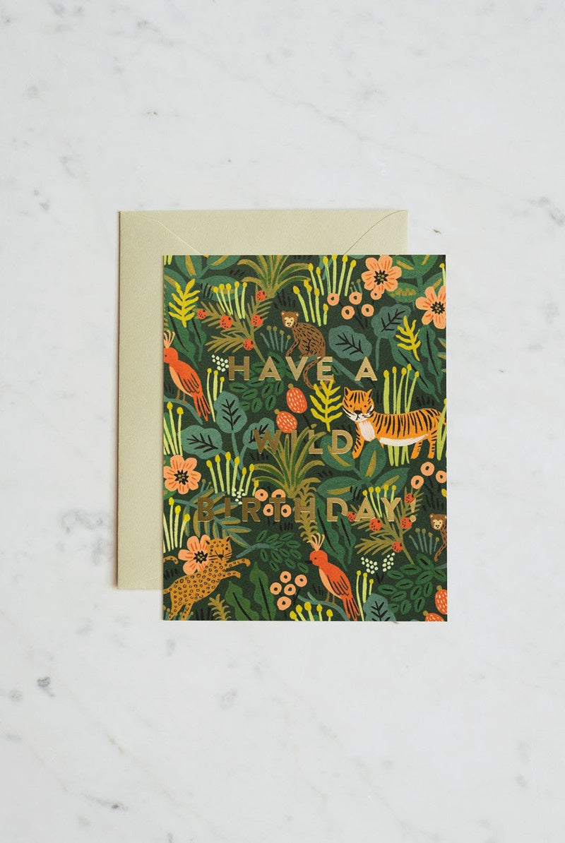 Rifle Paper Co - Single Card - Wild Birthday