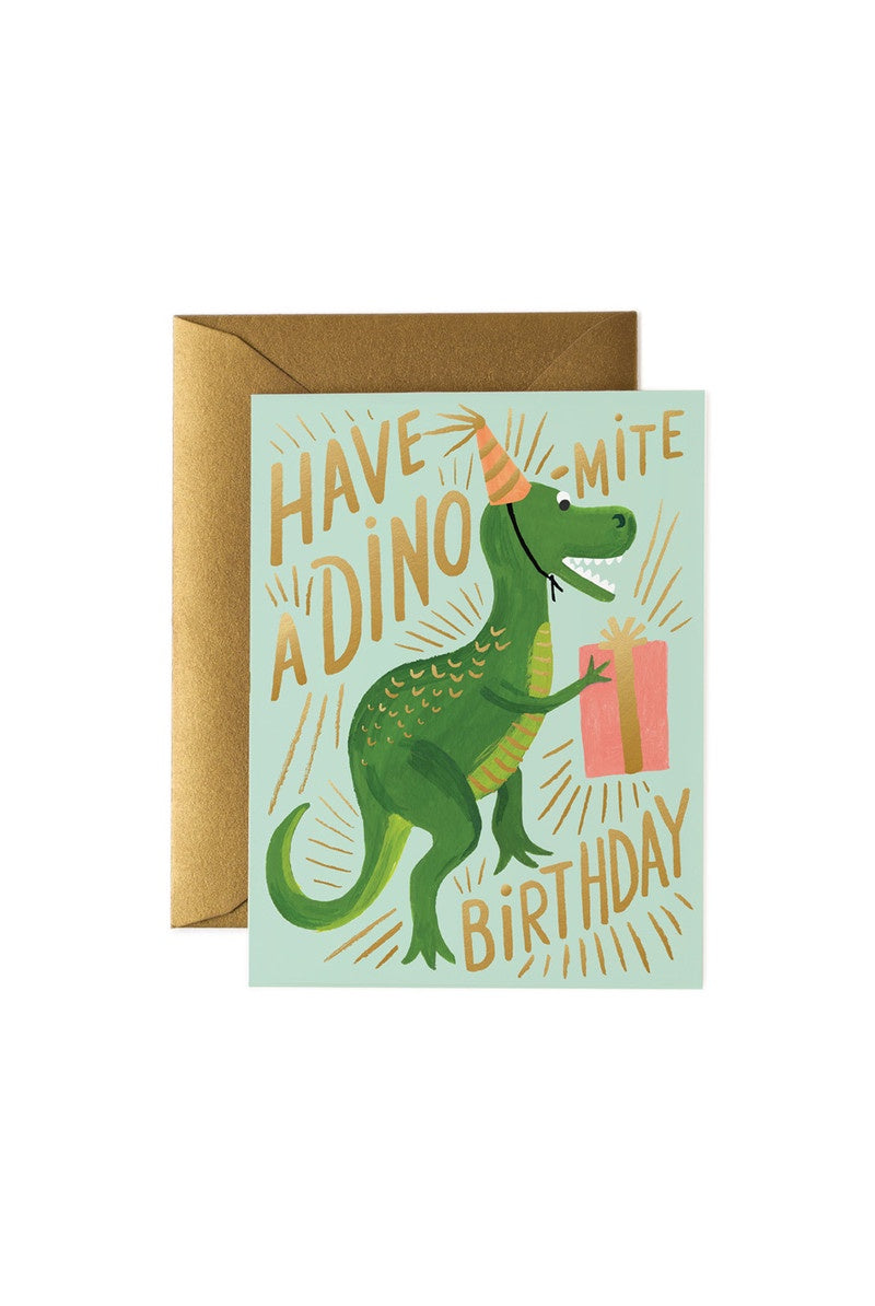 Rifle Paper Co - Single Card - Dino-mite Birthday