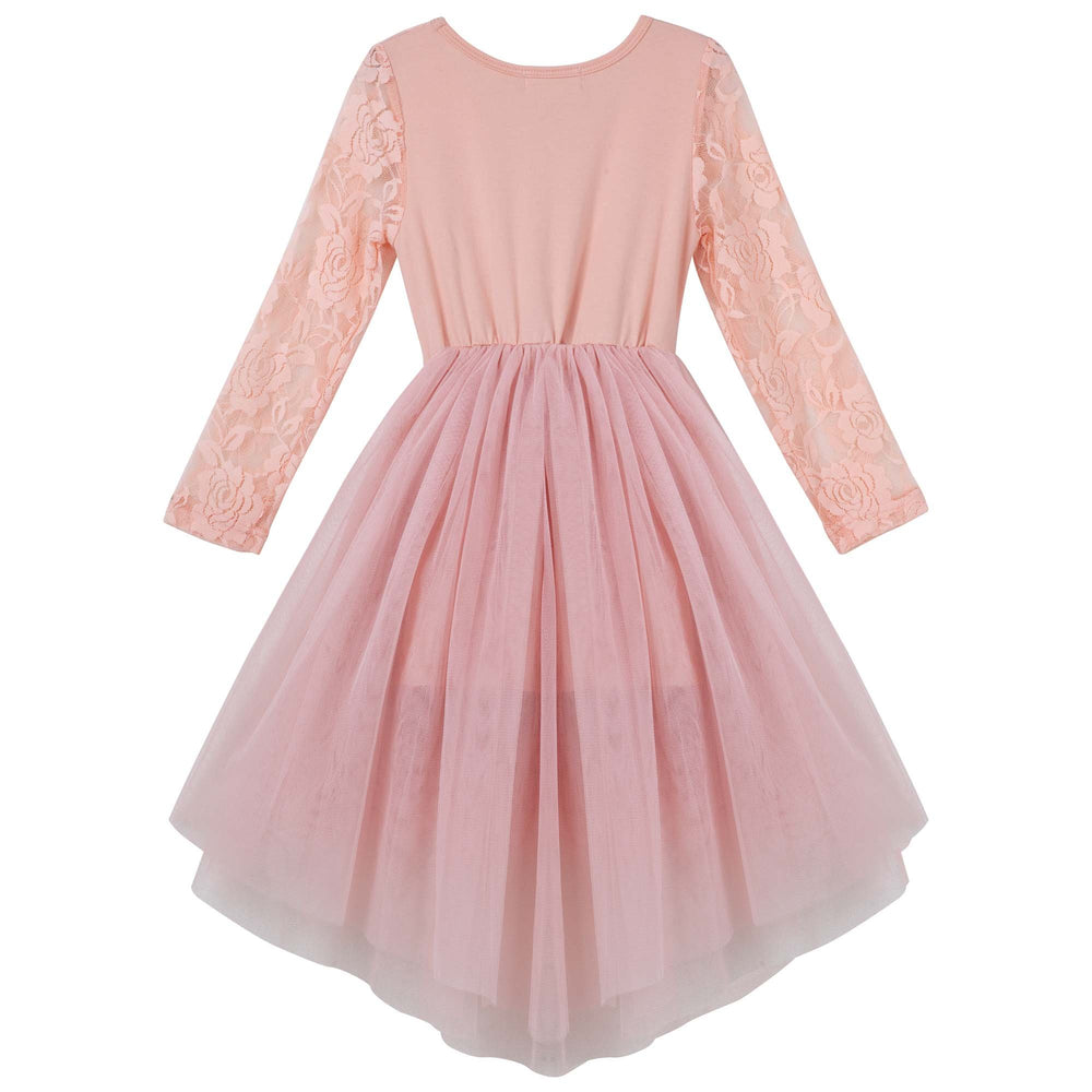 Candi Long Sleeve Tutu dress - Tea Rose