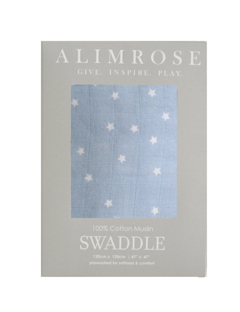 Starry Night Blue Muslin Wrap