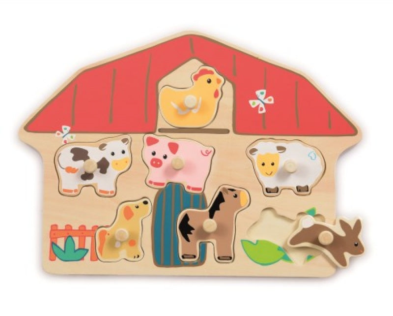 Egmont Wooden Puzzle Farm with pegs