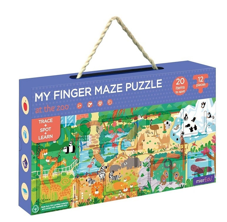 Finger Maze Puzzle - At the Zoo
