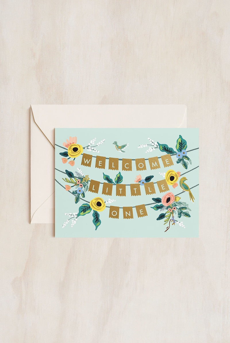 Rifle Paper Co - Single Card - Welcome Garland