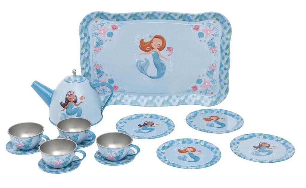 Vintage Tea Set - Mermaid