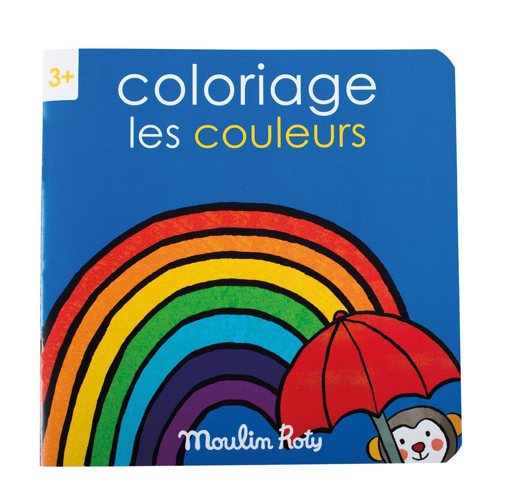 Les popipop - colours colouring book