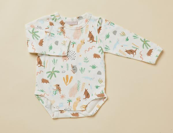 Outback Dreamers Long-sleeve bodysuit