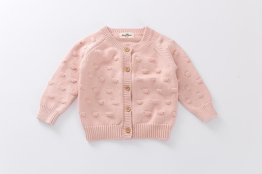 Charlie knitted bubble cardigan (dusty pink)