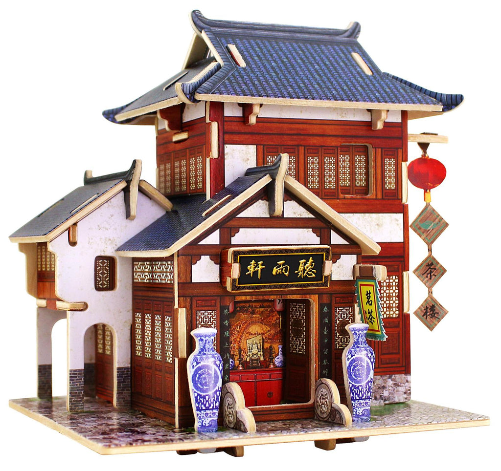 Chinese tea house 3D wood puzzle