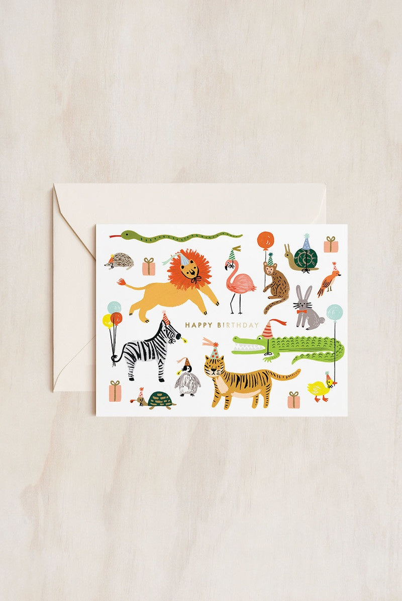 Rifle Paper Co - Single Card - Party Animals
