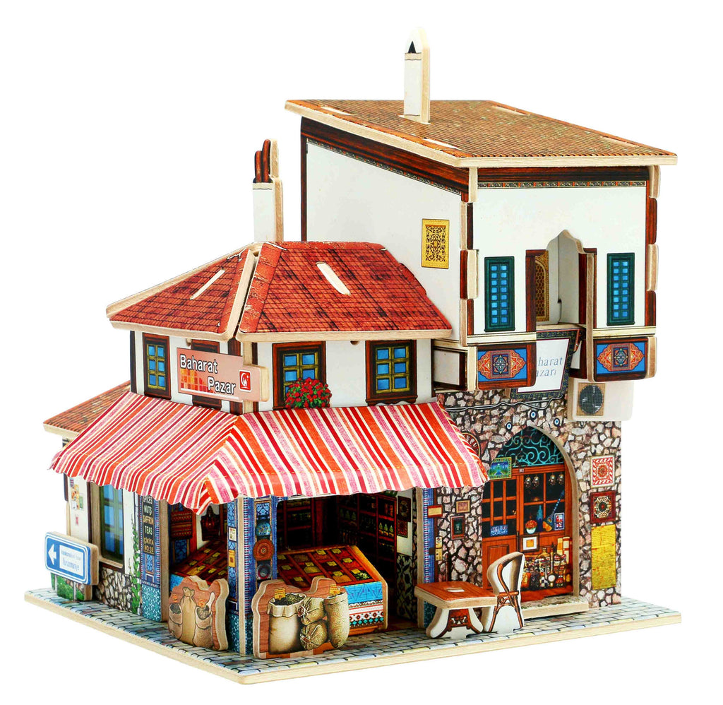 Turkish spice market 3D wood puzzle