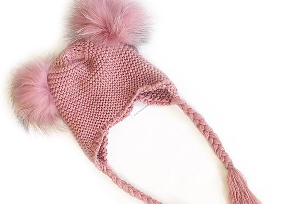 Koko Beanie with double pom pom (pink)