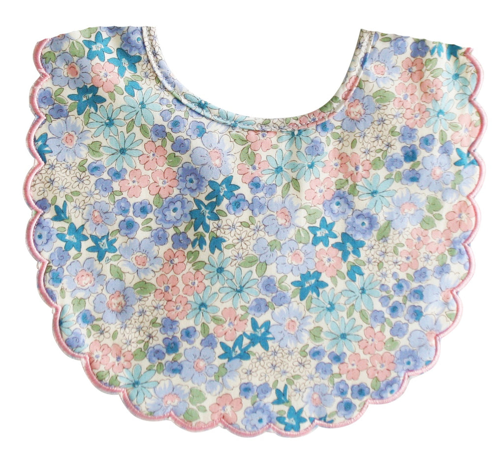 Scallop Bib Liberty Blue