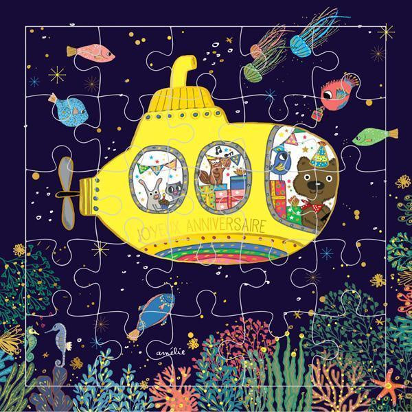 Carte D'Art Puzzle Card, Yellow Submarine