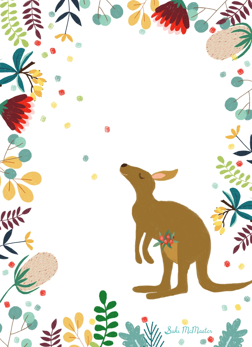 Kangaroo wildlife card