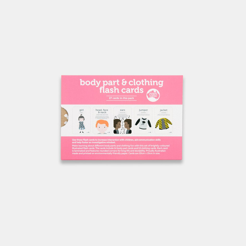 Body parts and clothing flash cards - 27 pk