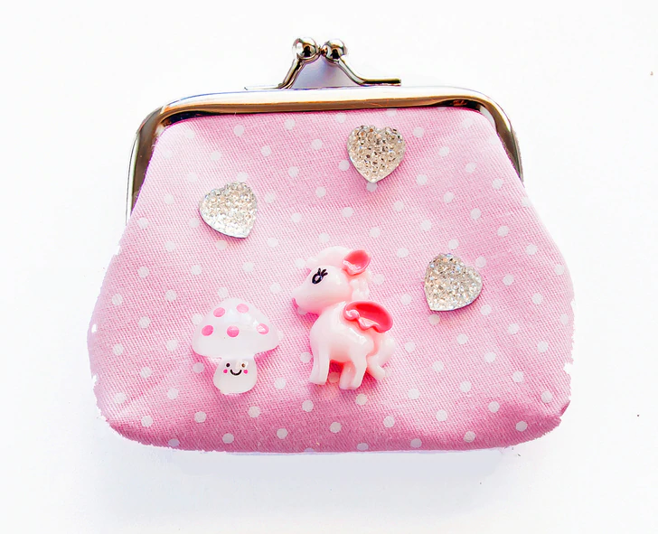 Make your own designer purse (Unicorns & Rainbow Assorted Colours.