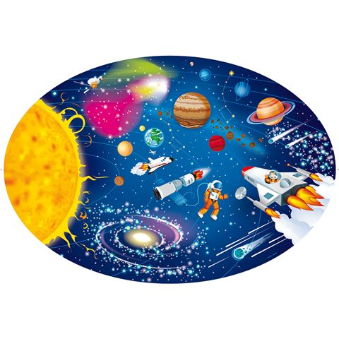 Travel, Learn & Explore - Puzzle and Book Set - Space 205pcs