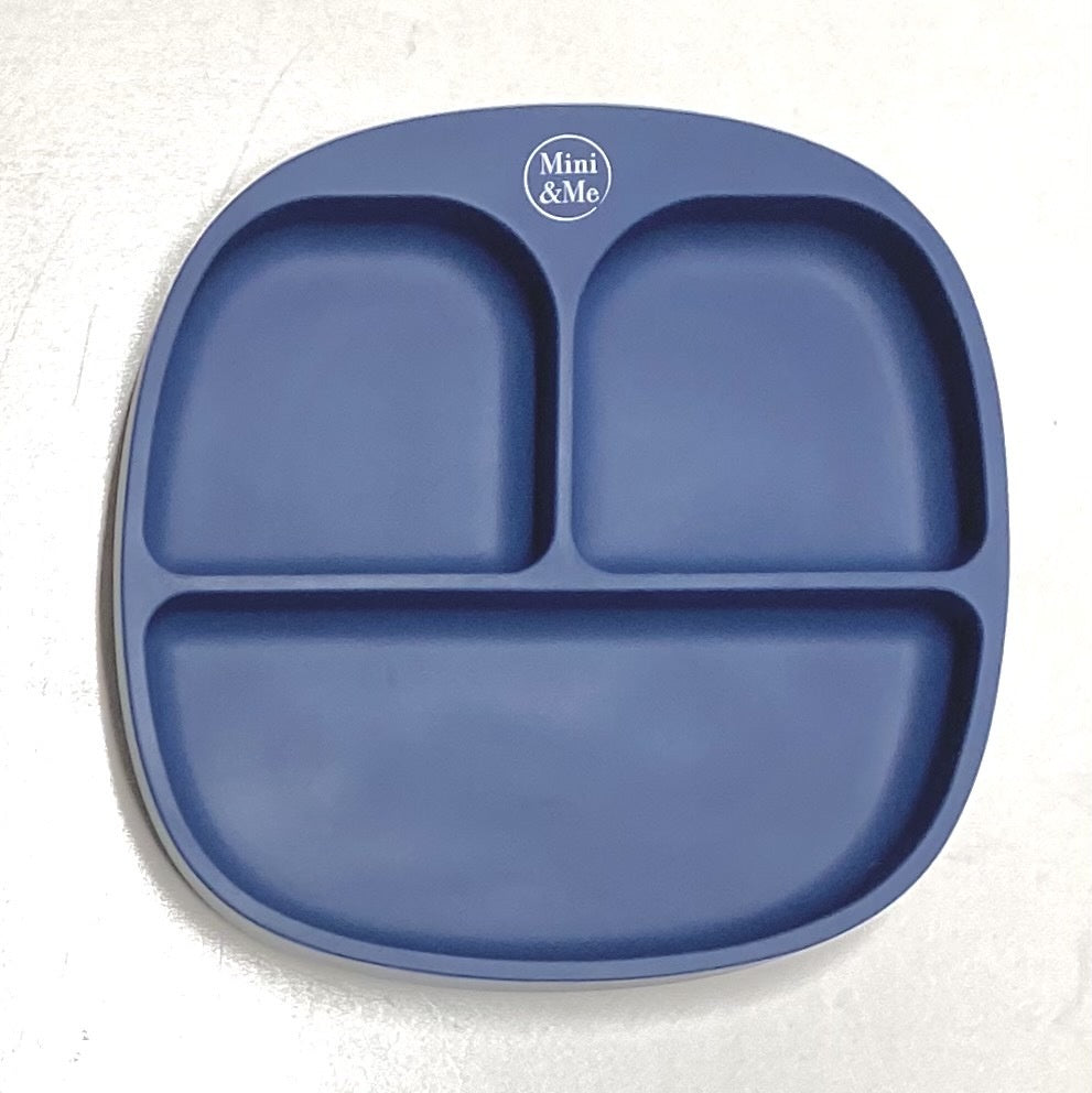 Divided Suction Plate - Blueberry