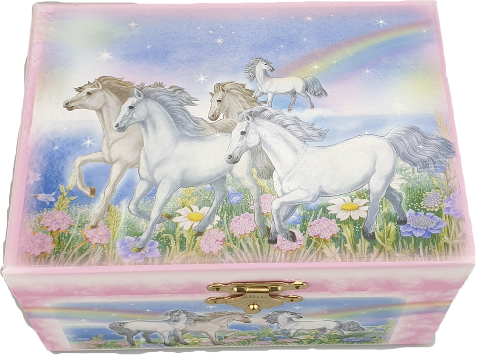 Musical Jewellery Box (Horses and rainbows)