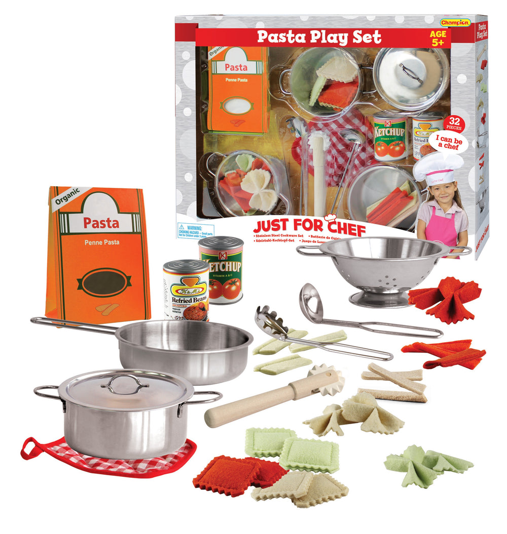 32 Piece stainless steel pasta play set