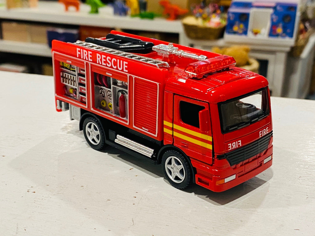 Fire Truck pull back die cast (13cm)