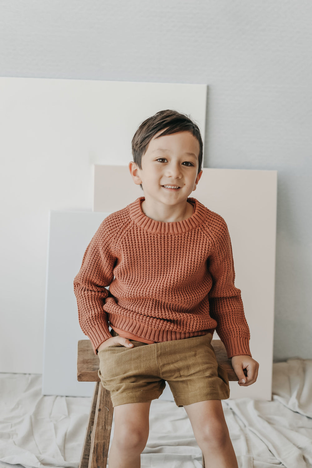 Barnaby Knit - Copper Marle