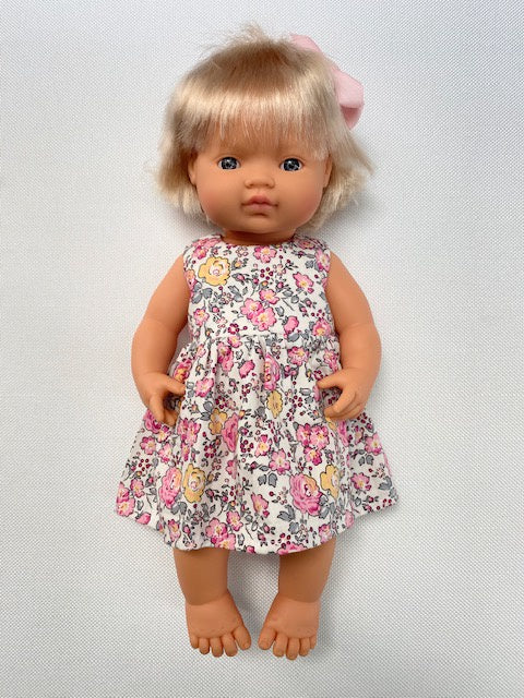 Wild floral A-line doll's dress