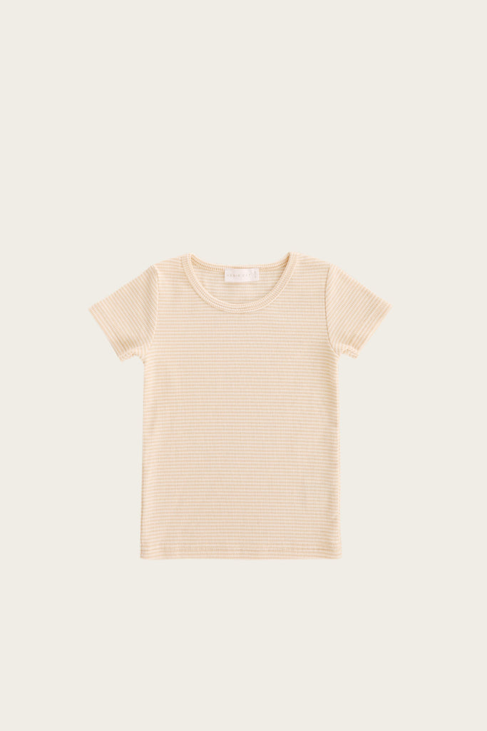Tommy Tee - Honey Peach Stripe