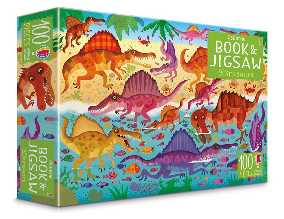 Book and Jigsaw: Dinosaurs (100pcs)