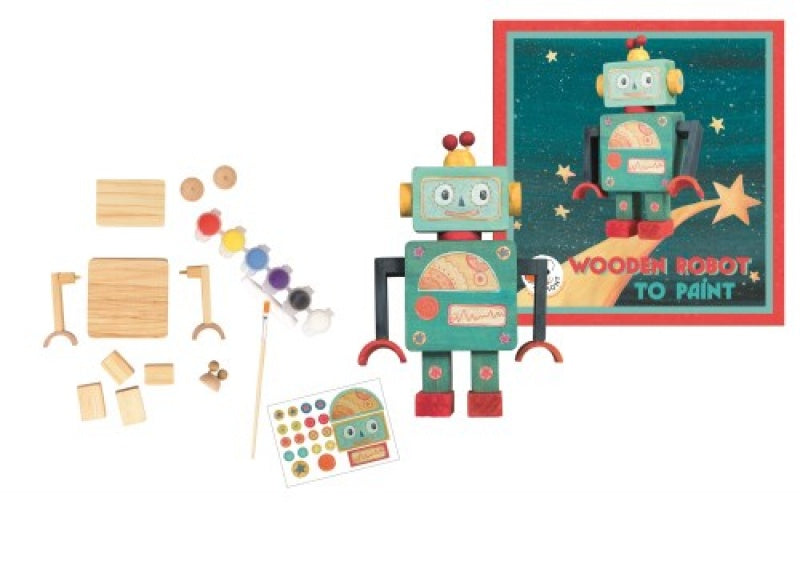 Make a wooden robot kit
