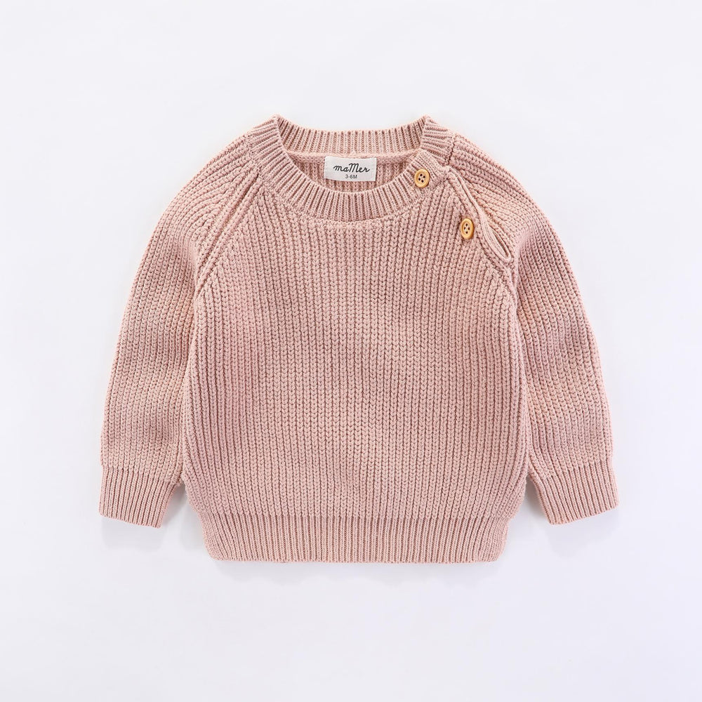 Frankie knitted jumper (dusty pink)