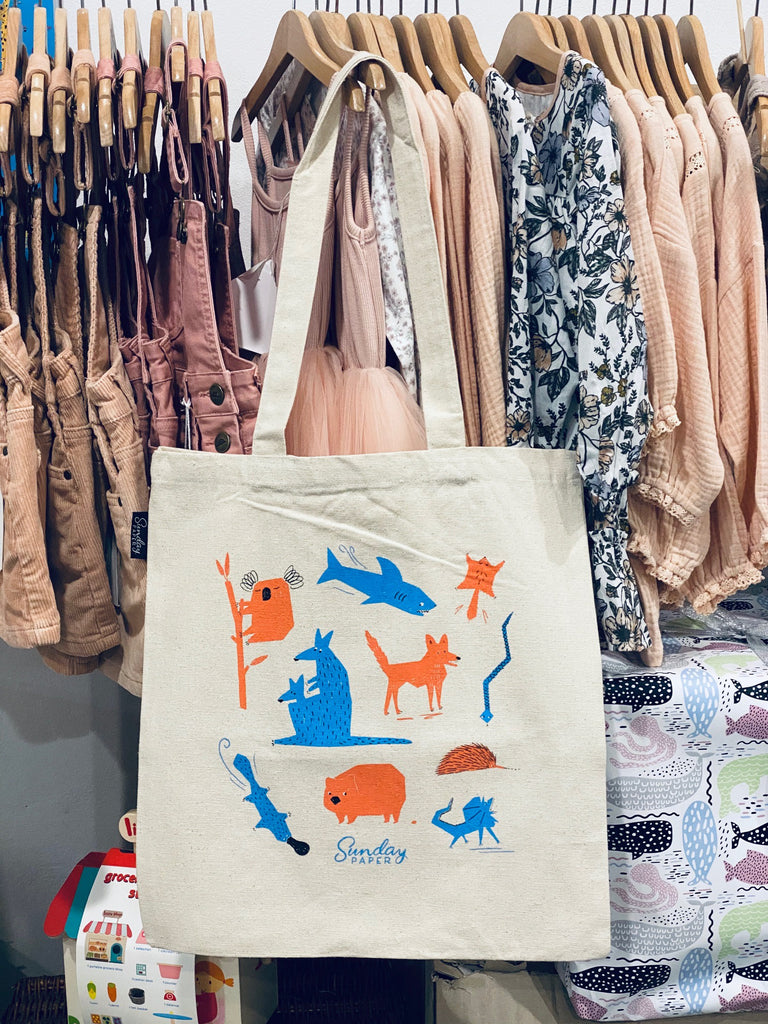 Native Aussie Animals tote