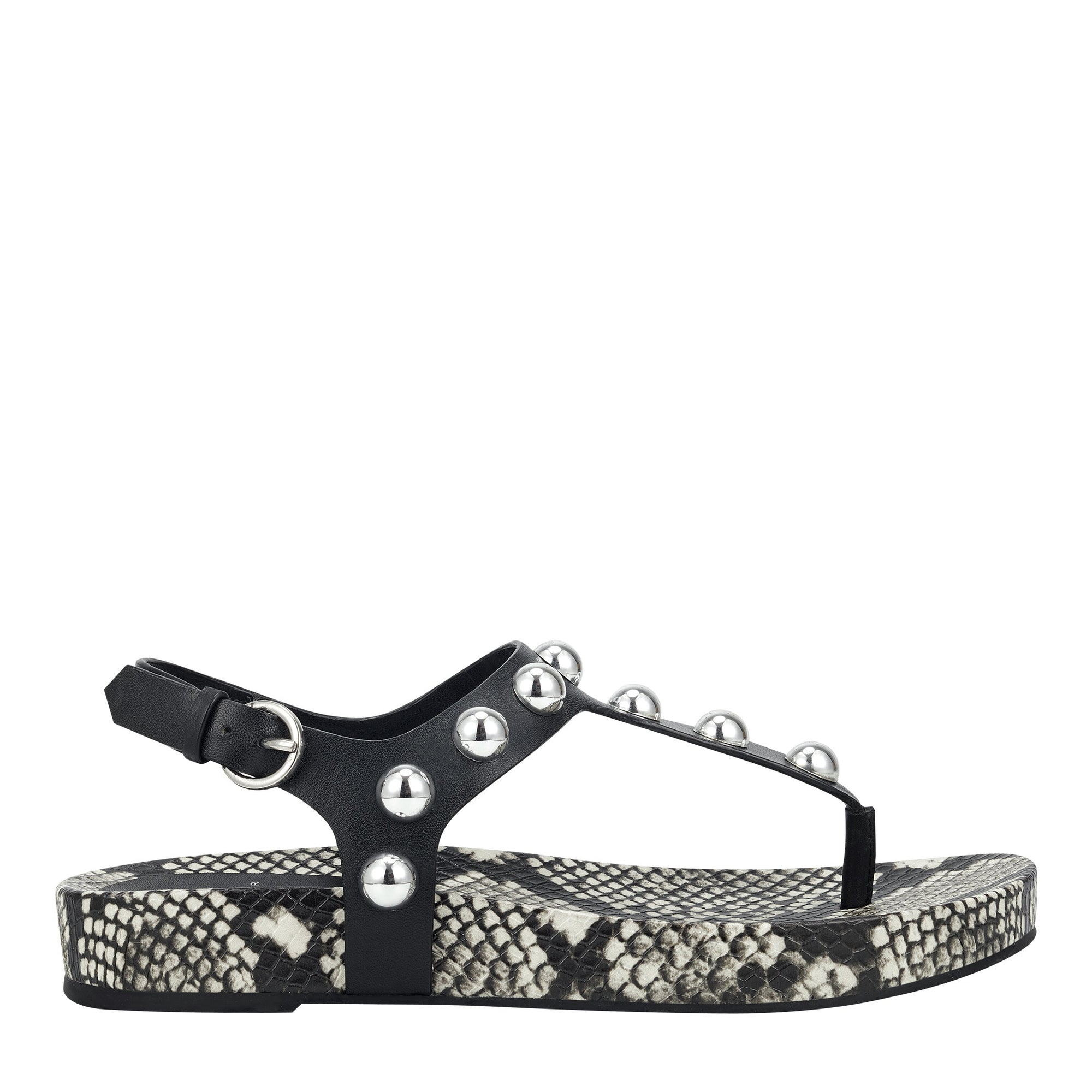 Indie Studded Flat Thong Sandal