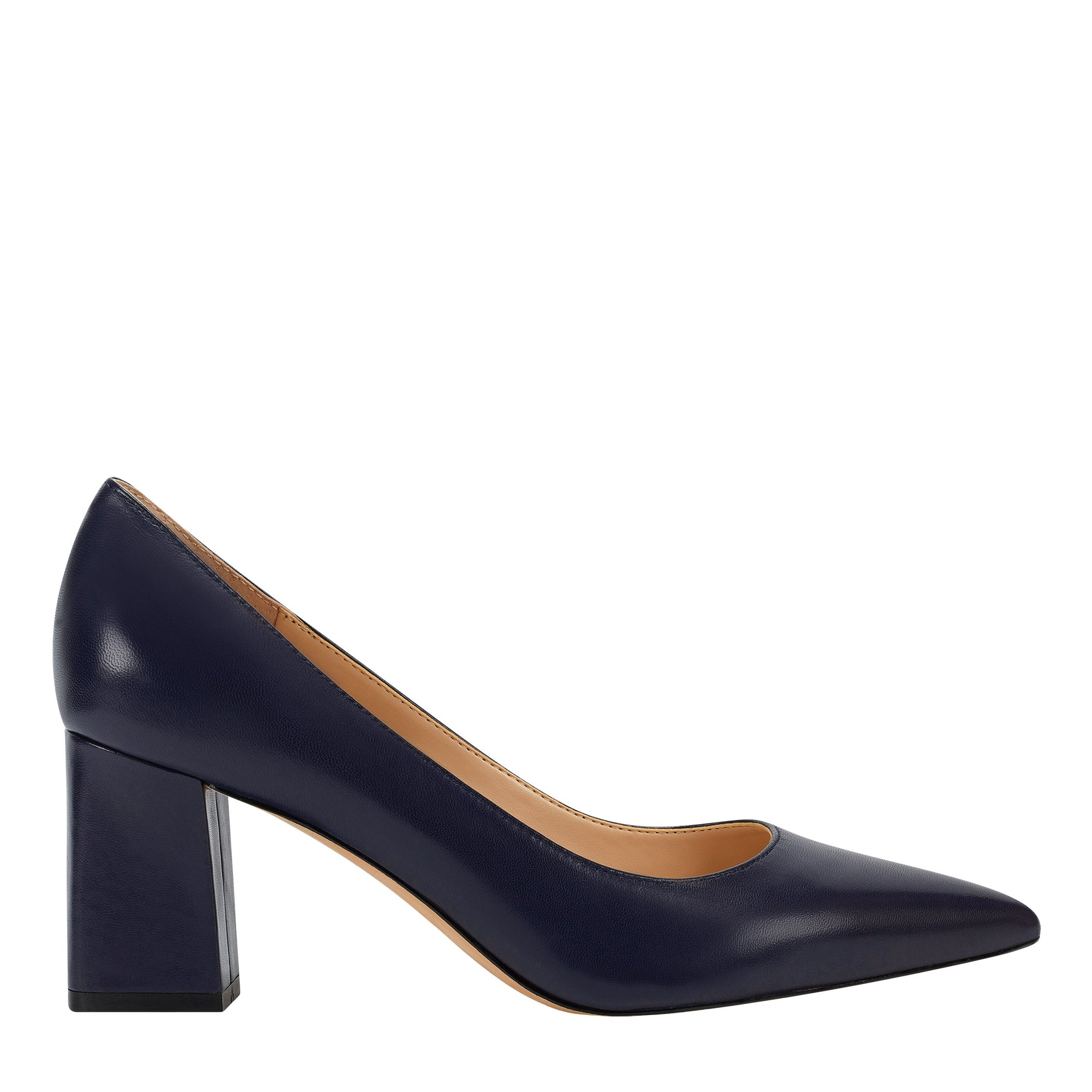 Zala Block Heel Pointed Toe Pump