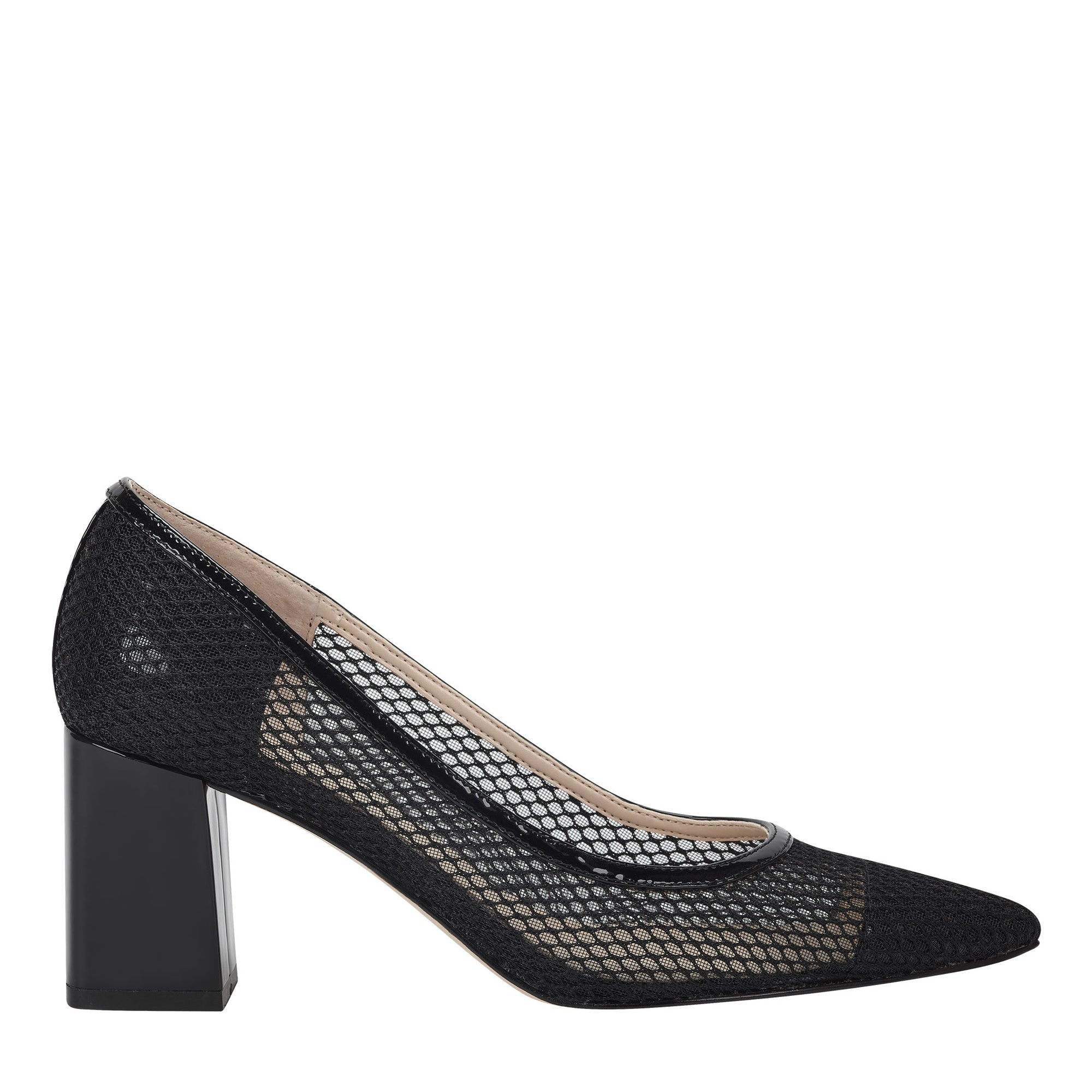 Zesty Block Heel Pointy Toe Pump