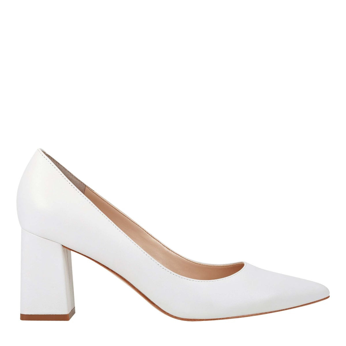 Zala Block Heel Pointy Toe Pump