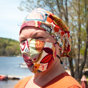 Head Wrap & Mask Combination