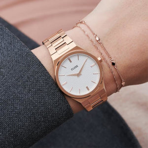 Cluse Orologio Donna Vigoureux Steel, Rose gold Snow White/Rose Gold