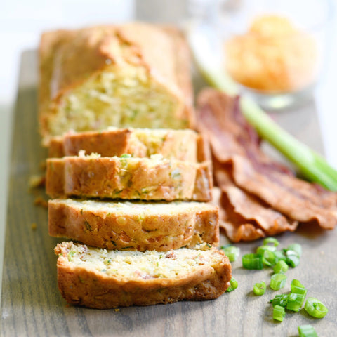 Bacon, Cheddar & Green Onion Zucchini Bread