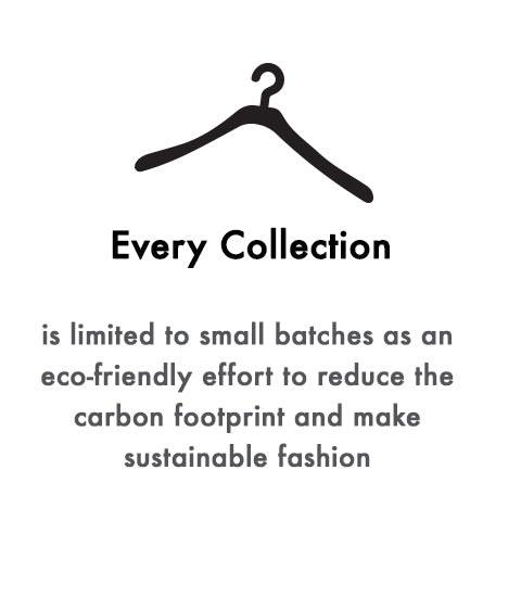every collection is limited to a small batch as an eco friendly effort to reduce the carbon foot print and make sustainable fashion ferdinando fusco
