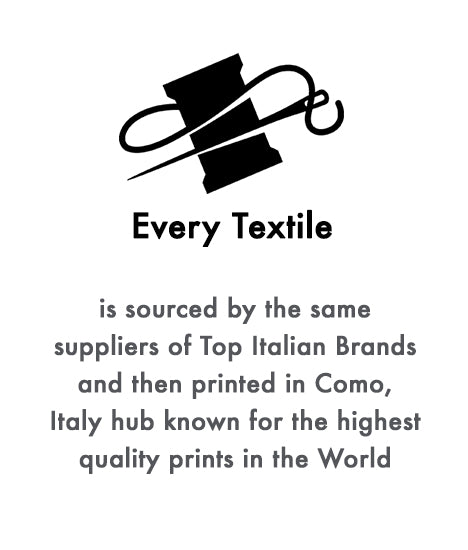 every textile is sourced by the same suppliers of top italian brands and then printed in como ferdinando fusco sorrento