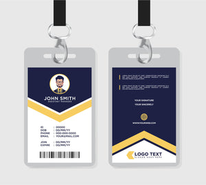 "Custom ID Badges 2.125"" x 3.375"""