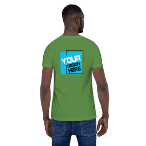 Customizable Large Front & Rear Print Unisex T-Shirt