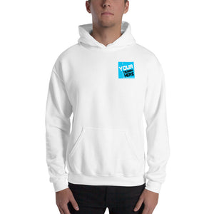 Customizable R. Chest, Large Rear Print Unisex Hoodie