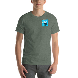 Customizable R. Chest Front & Large Rear Print Unisex T-Shirt