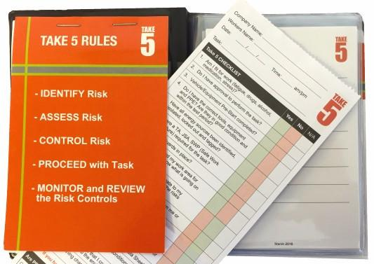 Take 5 Checklist and JSA - Refills